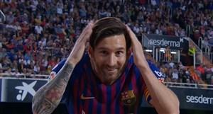 گل اول بارسلونا به والنسیا توسط لیونل مسی