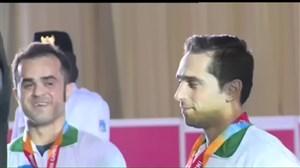 مراسم اهدای مدال طلا و نقره وزنه برداری ( پاراآسیایی 2018)