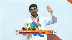 اهدای مدال طلای ایزدیار در شنای 100 متر پاراالمپیک 2018