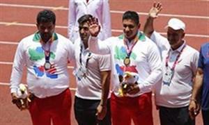 مدال های طلا و نقره پرتاب وزنه مردان به ایران رسید