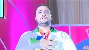 مراسم اهدای مدال طلا وزنهبرداری به روحاله رستمی