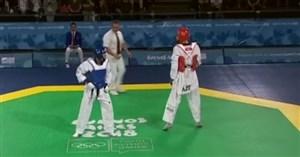 دیدار تکواندو ایران-آذربایجان در المپیکجوانان 2018