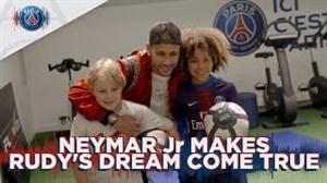 برآورده شدن آرزوی هوادار کوچک نیمار در پاریس