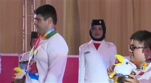 مراسم اهدای مدال نقره به محمد مرادی