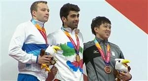 مراسم اهدای مدال طلای شاهین ایزدیار