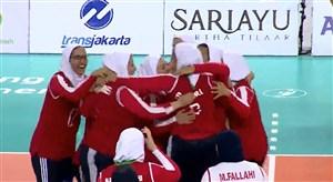 خلاصه والیبال نشسته بانوان ایران 3 - ژاپن 0 (پاراآسیایی)