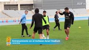 تمرین امروز تیم ملی اروگوئه با حضور  کاوانی