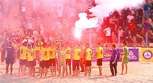 پارس جنوبی آماده جشن قهرمانی فوتبال ساحلی(عکس)