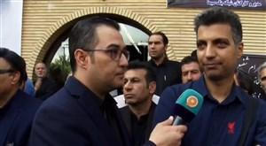 گفتگو با فردوسی پور و مظلومی در مراسم تشییع پیکر مرحوم شفیع