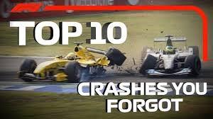 10 تصادف به یادماندنی در مسابقات فرمول 1