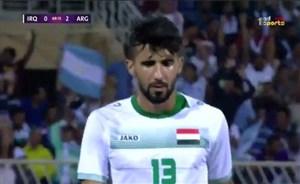 اشکهای بشار رسن در بازی عراق - آرژانتین