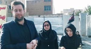 دست اندرکاران ورزشومردم بر مزار شفیع در باغفیض
