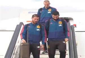 بازگشت بازیکنان اسپانیا به شهر مادرید پس از پیروزی برابر ولز