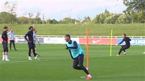 تمرین امروز تیم ملی انگلیس برای تقابل با کرواسی