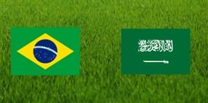 خلاصه بازی عربستان 0 - برزیل 2