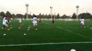 گزارشی از تمرین شاداب تیم ملی فوتبال ایران