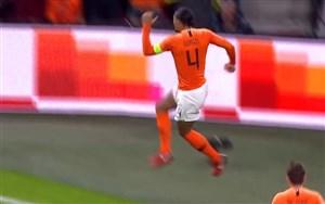 گل اول هلند به آلمان توسط ویرجیل فن دایک