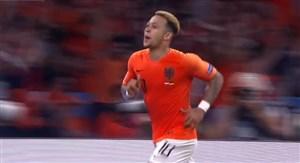 گل دوم هلند به آلمان توسط ممفیس دپای