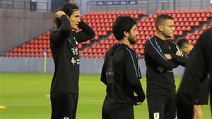 تمرین امروز تیمملی اروگوئه در ژاپن و استقبال هواداران