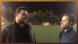 صحبت های جالب احسان حدادی و حسین توکلی در تمرین تیم خبرنگاران