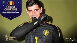 تیبا کورتوا ; برنده دستکش طلایی جام جهانی 2018