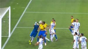 گل اول برزیل به آرژانتین (میراندا)
