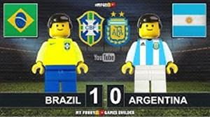 شبیه سازی گل برزیل به آرژانتین با لگو