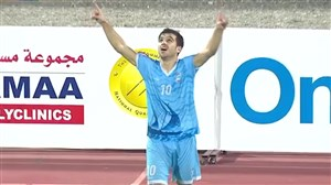 پاس گل و گل حمیدرضا کاظمی،بازیکن ایرانی مجیس عمان