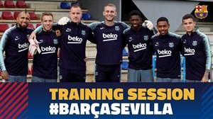 تمرین امروز تیم بارسلونا (27-07-97)
