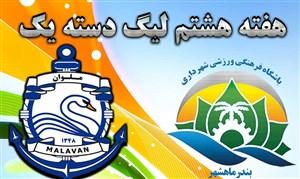خلاصه بازی شهرداری ماهشهر 2 - ملوان بندرانزلی 1