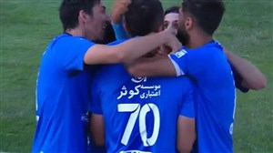 گل اول استقلال به سایپا ( محمد دانشگر )