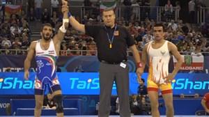 پیروزی یخکشی در دور نخست مقابل عباس رحمان اف (قهرمانی جهان - بوداپست)