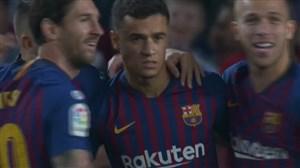 گل اول بارسلونا به سویا (فیلیپ کوتینیو)