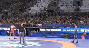 پیروزی لحظهآخری عزتالله اکبری مقابل حریف ژاپنی