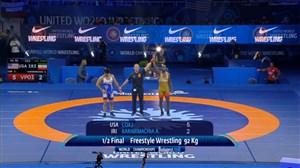 شکست کریمی برابر حریف آمریکایی در نیمه نهایی (قهرمانی جهان-بوداپست)