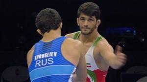 کسب مدال برنز حسن یزدانی برابر حریف روس در رده بندی (قهرمانی جهان)
