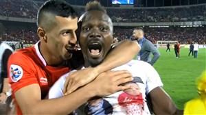 شادی بازیکنان و هواداران پرسپولیس پس از صعود به فینال