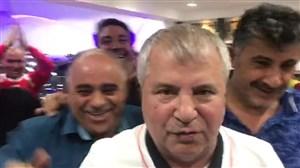 شادی علی پروین بعد از پایان بازی پرسپولیس - السد