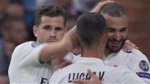 گل اول رئال مادرید به ویکتوریا پلزن ( کریم بنزما )