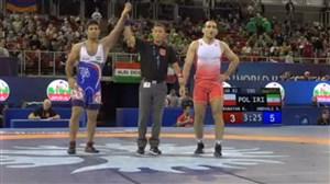 پیروزی عبدولی در مقابل دارنده مدال نقره اروپا (قهرمانی جهان-بوداپست)