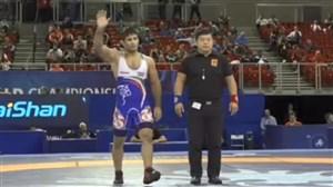 پیروزی عبدولی بر حریف آذربایجانی (قهرمانی جهان - بوداپست)
