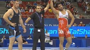 پیروزی نوری در وزن 87 کیلوگرم مقابل حریفی از استونی