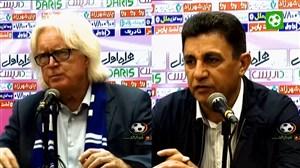 کنفرانس خبری بازی استقلال - سپاهان با قلعه نویی و شفر