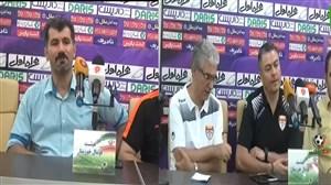 کنفرانس خبری مربیان فولاد خوزستان و استقلال خوزستان