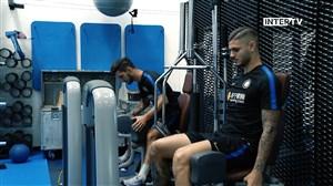 تمرینات بازیکنان اینتر پیش از دیدار برابر لاتزیو