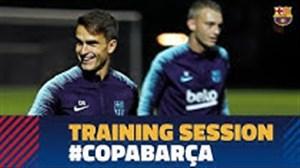 آخرین تمرین بارسلونا (97/08/08)