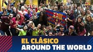 شادی هواداران بارسلونا در سرتاسر جهان پس از برد ال کلاسیکو