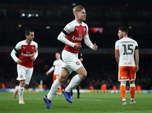 صعود دشوار آرسنال به یک چهارم نهایی جام اتحادیه