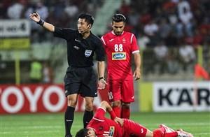 داور چینی برای بازی رفت فینال آسیا