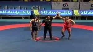 پیروزی مقتدرانه ماگمدوف برابر بابایی در دیدار پایانی لیگ برتر کشتی آزاد